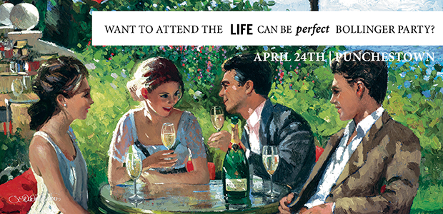Win tickets to Life Can Be Perfect Bollinger Party