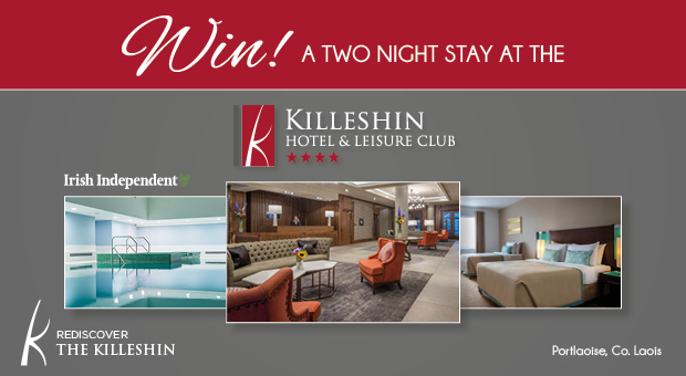 Win a fantastic two-night stay at The Killeshin Hotel, Co. Laois