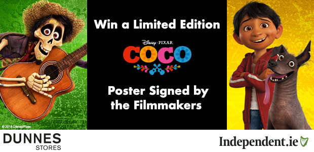 Win a Coco poster signed by its director and producer, Disney Pixar's Lee Unkrich and Darla K Anderson!