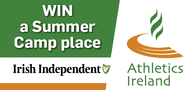 Win one of 10 Summer Camp places with Athletics Ireland