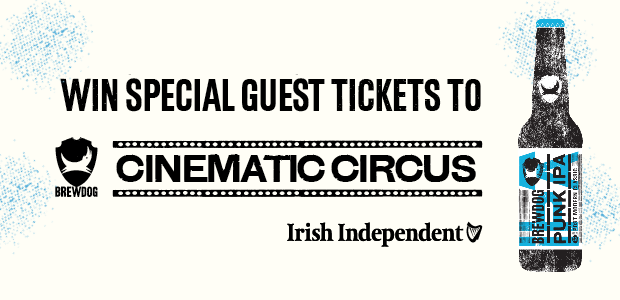 Win Special Guest tickets to BrewDog's Cinematic Circus at Weston Airport on July 7th