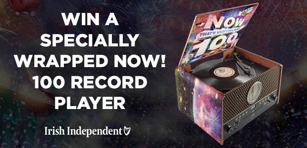 Win a NOW! 100 specially wrapped record player plus music pack