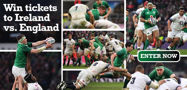 Win 2 match tickets to Ireland vs. England