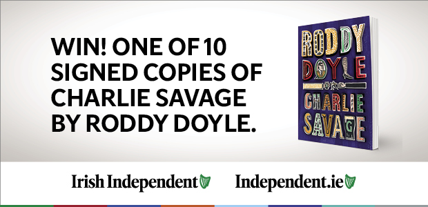 Win! One of 10 signed copies of Charlie Savage by Roddy Doyle