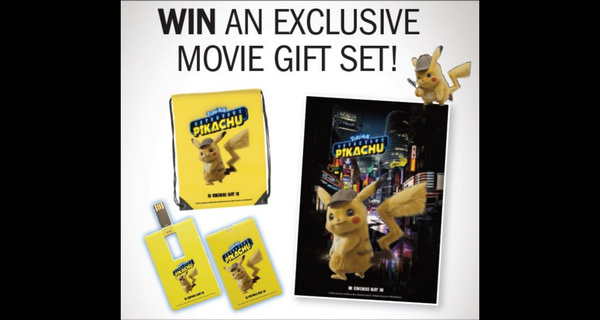 Win a Detective Pikachu Movie Gift Set!