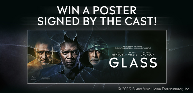 Win a Signed Glass Movie Poster!