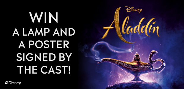 Win a signed Aladdin Poster