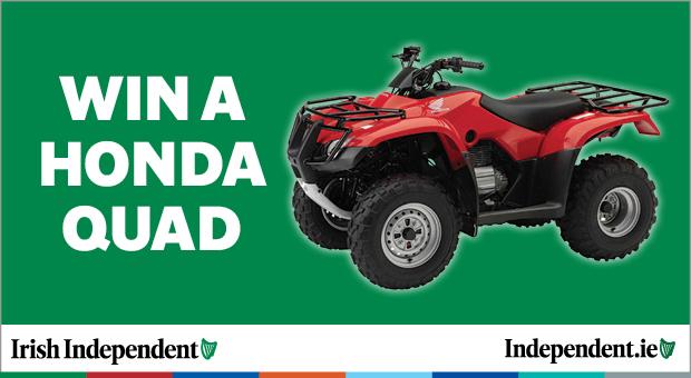 Win a Honda Quad worth over €6,500