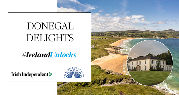 #IrelandUnlocks Donegal Delights - win an overnight stay at Ireland's Blue Book Castle Grove Country House