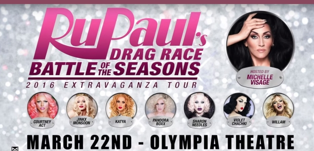 WIN tickets to RuPaul's Drag Race - Battle of the Seasons - 2016 Extravaganza Tour!